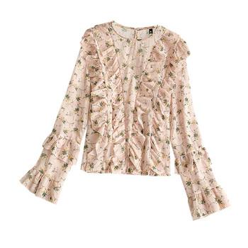 Дамска стилна риза с лотос ръкав в няколоко цвята
