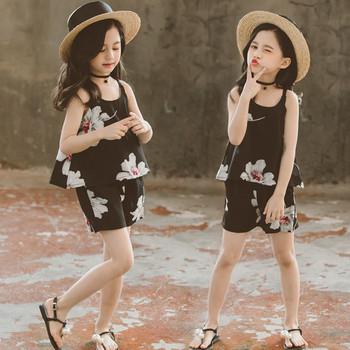 Детски модерен комплект в черен цвят-за момичета