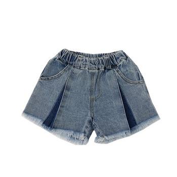 Детски къси дънки с джобове-за момичета