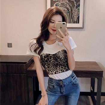 Дамска тениска с леопардов десен