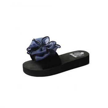 Ежедневни  дамски чехли с панделка в няколко цвята