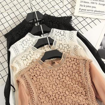 Дамска риза с дантела и лотос ръкав