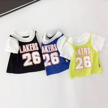 Детска спортно-ежедневна тениска в три цвята за момчета