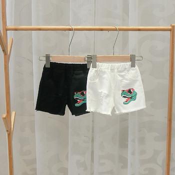 Детски къси панталони в бял и черен цвят за момчета