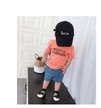 Нов модел детски къси панталони за момчета в син цвят