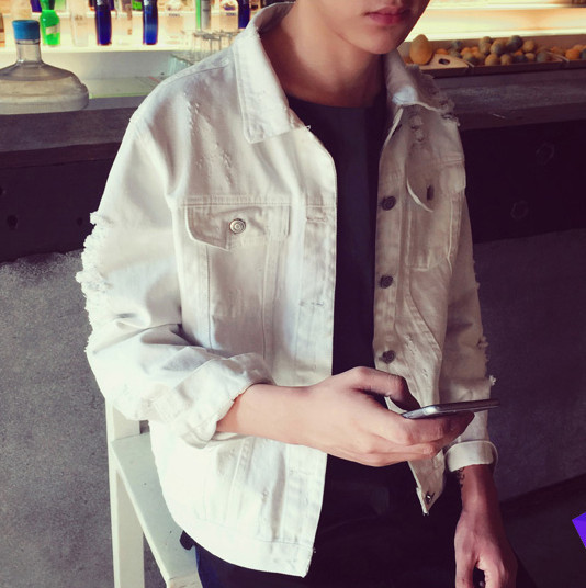 731703e8781 Мъжко дънково накъсано яке в два цвята - Badu.bg - Светът в ръцете ти