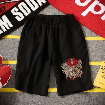 Мъжки спортен екип тениска+ къс панталон с бродерия