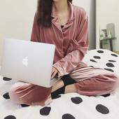 Ватирана дамска пижама - горнище + панталон