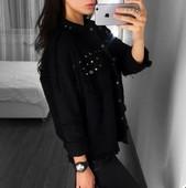 Стилна дамска плътна риза с лъскави нитове , 3 цвята