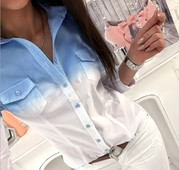 Спортно-елегантна дамска риза в преливащ цвят,3 модела