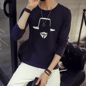 Мъжка ежедневна тениска с дълъг ръкав в три цвята