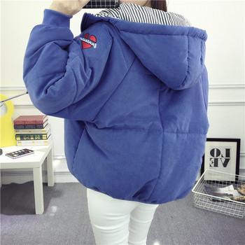 Χειμερινό σακάκι νέων γυναικών με κουκούλα και μανίκι σε τέσσερα χρώματα