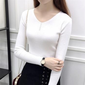 Тънък есенен дамски пуловер в различни цветове