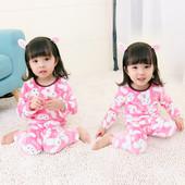 Топла детска пижама за момичета в две разцветки