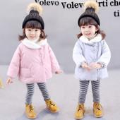 Детско зимно яке за момичета в два цвята