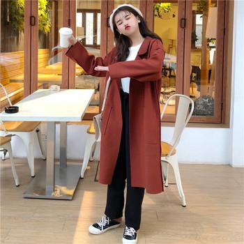 Κυρίες κομψό μακρύ παλτό σε δύο χρώματα - Badu.gr Ο κόσμος στα χέρια σου 06962d86728
