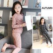 Детска пижама за момичета в два цвята с изображения