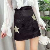 Стилна дамска пола от еко кожа в черен цвят