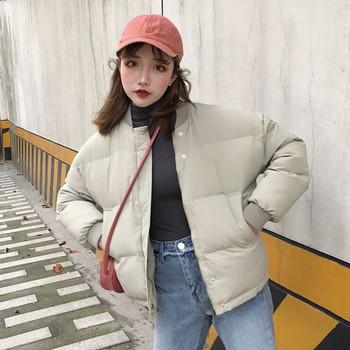 Ежедневно зимно дамско яке в три цвята