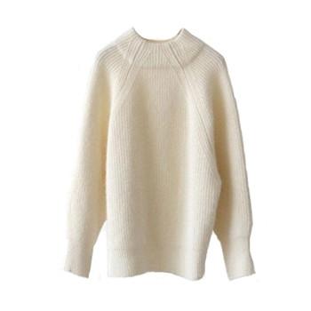 Нежен пуловер фино плетиво в широк модел