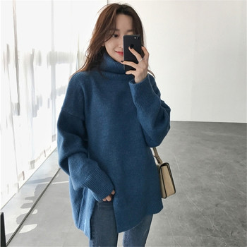 Широк модел пуловер за дамите в два цвята
