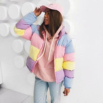 Καθημερινό χειμωνιάτικο σακάκι σε πολύχρωμα χρώματα