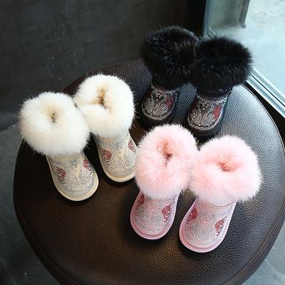 Топли зимни боти с устойчива подметка с пух и камъни в три цвята