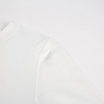 Прозрачно дамско боди в бял цвят с изображения