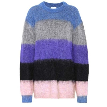 Мек и удобен за носене дамски пуловер в преливащи цветове