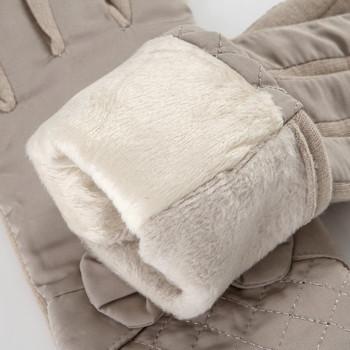 Дамски зимни ръкавици с панделка