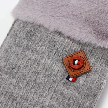 Зимни плетени дамски ръкавици в пет цвята