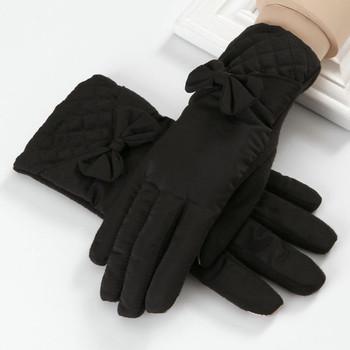 Дамски зимни ръкавици с панделка в различни цветове