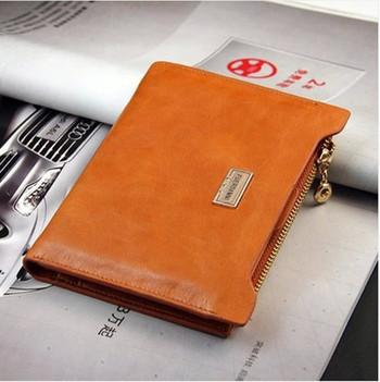 Дамски стилен портфейл с мека еко кожа и ципово закопчаване,5 цвята