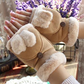 Топли дамски ръкавици без пръсти в различни цветове и модели