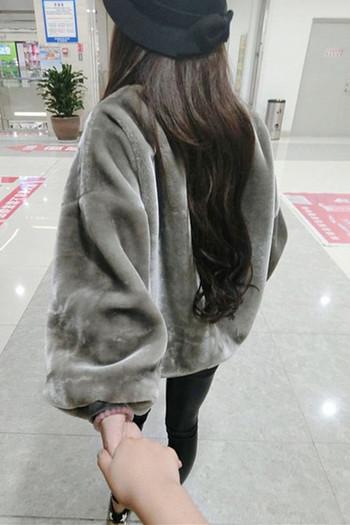 Мек,топъл,плюшен ежедневен дамски пуловер в няколко цвята