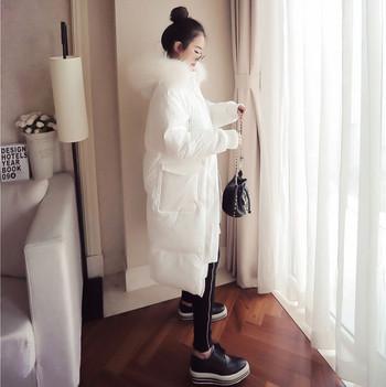 Μοντέρνο χειμωνιάτικο σακάκι μακρυμάνικο με τσέπες και αφράτα κουκούλα