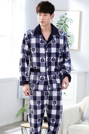 c08e0f4bfde badu.gr - Ανδρικές ζεστές δυο κομμάτια πιτζάμες σε διάφορα μεγέθη