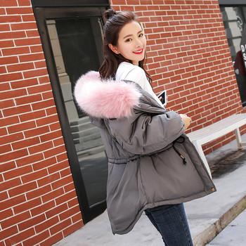 Дамско хитово яке с мека пухена качулка , 5 цвята
