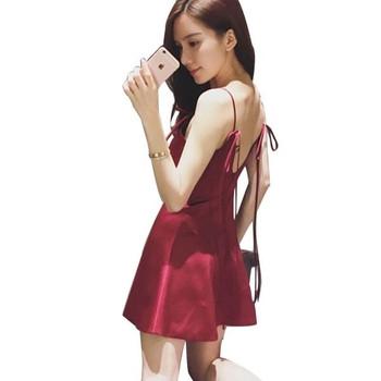 e545f87e9c72 Σέξυ γυναικείο φόρεμα με λεπτό λουράκι ώμου