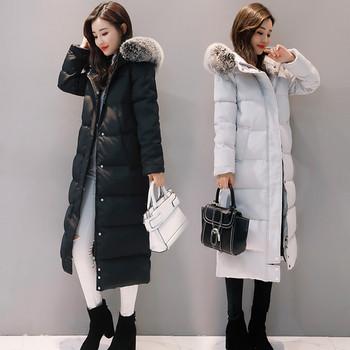 Μακρυμάνικο χειμωνιάτικο σακάκι με πολύ ζεστό γέμισμα και αφράτη κουκούλα, 2 χρώματα