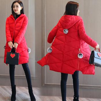 Υπέροχο χειμώνα μακρύ χειμωνιάτικο σακάκι με κουκούλα και μαλακό fleece πάνω της και τσέπες