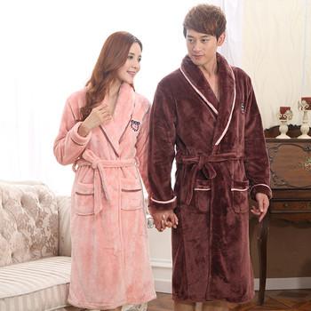 Домашен плюшен халат за мъже и жени в много цветове