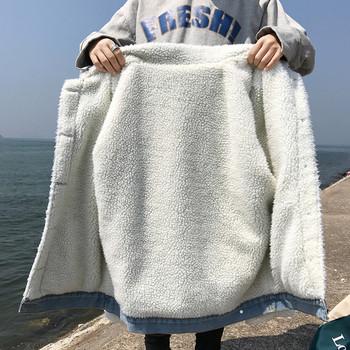 Дънково ватирано дамско яке в два цвята