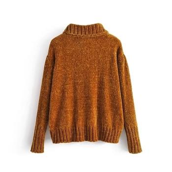 Топъл дамски пуловер в два цвята