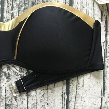 Семпъл бански костюм за дамите в черен цвят
