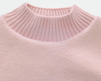 Зимен дамски пуловер с бродерия