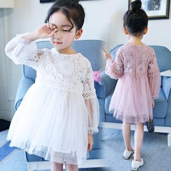 Όμορφο παιδικό φόρεμα με δαντέλα και τούλι σε δύο χρώματα - Badu.gr ... c89dbf06cbc