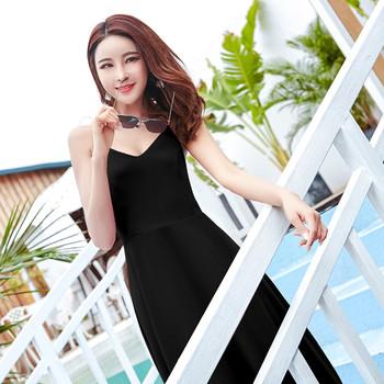 db60ad64ec2c Κομψό γυναικείο φόρεμα με γυμνή πλάτη και όμορφη κορδέλα σε δύο χρώματα