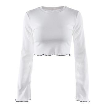 3ba3835fe1c7 Γυναικεία μπλούζα με κοντό μανίκι και λαιμόκοψη με φαρδιά μανίκια ...