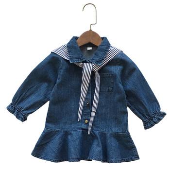Τζιν φόρεμα για κορίτσι με κουμπιά και κορδέλα - Badu.gr Ο κόσμος ... 1ba004ec693